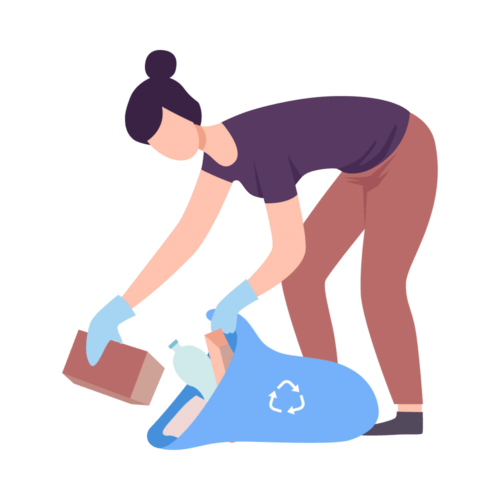 First-Up-Cleaning-Services-Female-Technician-Picking-Up-Trash-1
