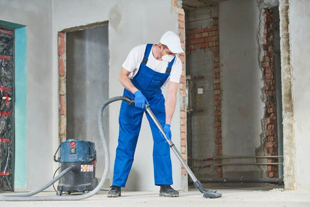 Weekly, monthly, and recurring cleaning, a technician performs post-construction cleaning